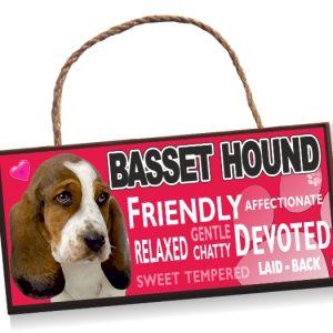 Sign - Basset Hound No2 Bright