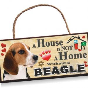 Sign - Beagle 'House Is Not A Home'