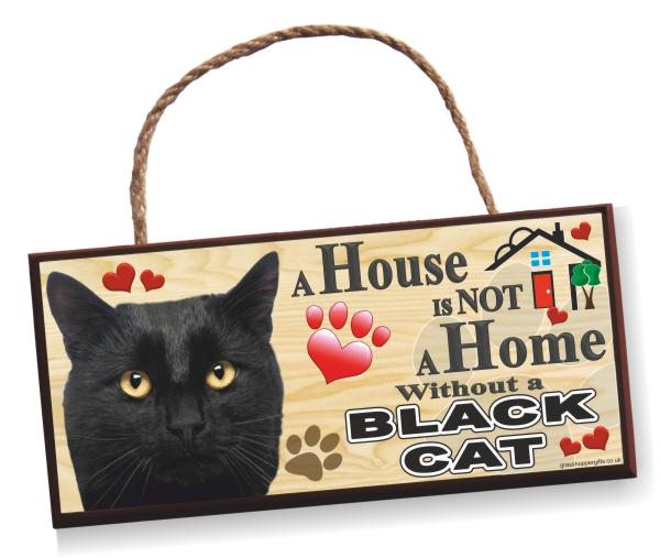 Sign - Black Cat Home