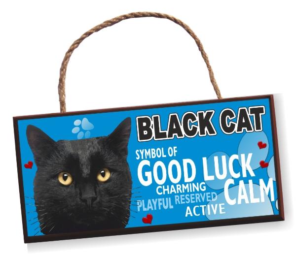 Sign - Black Cat No2 Bright
