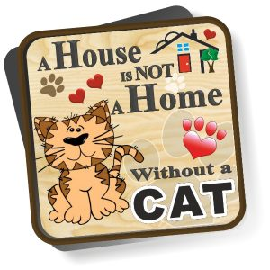 Coaster - Cat Cartoon Home