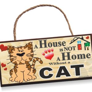 Sign - Cat Cartoon Home