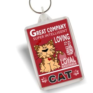 Key Ring - Cat Cartoon No2