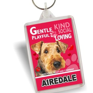 Key Ring - Airedale Terrier No3