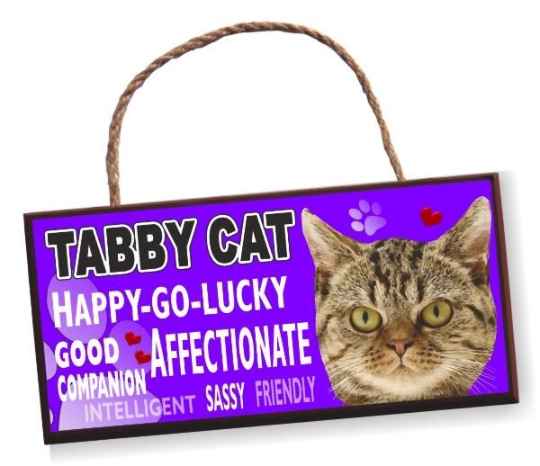 Cat Sign - Tabby Cat Bright