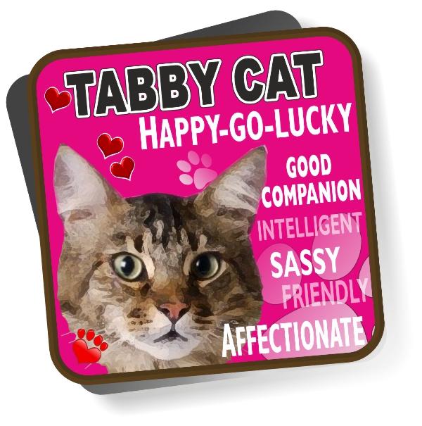 Coaster - Tabby Cat Bright