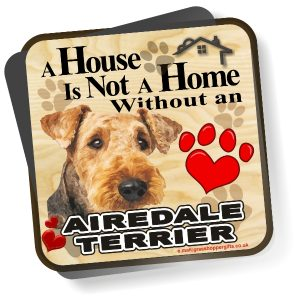 Coaster - Airedale Terrier Home