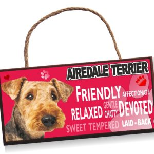 Sign Airedale Terrier No 2 Bright