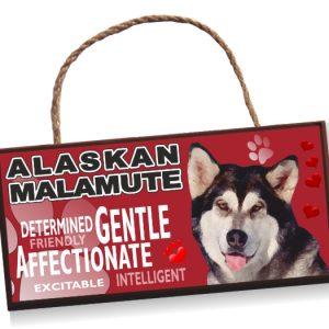 Sign -Alaskan Malamute No2 Bright