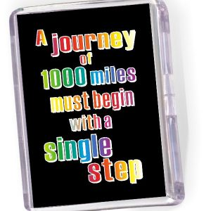Fridge Magnet 'A Journey of 1000 Miles...'