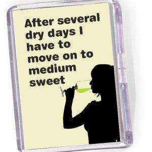 Fridge Magnet - 'After Several Dry Days..'