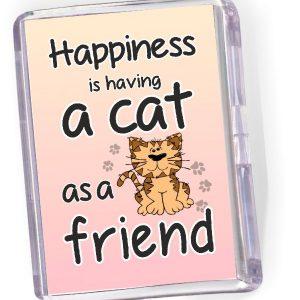 Fridge Magnet Happiness is Having a Cat...