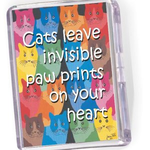 Fridge Magnet Cats Leave Invisible Paw Prints...
