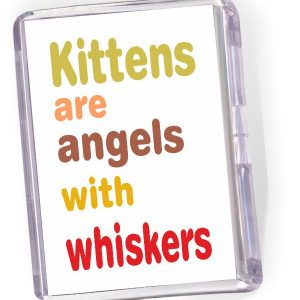 Fridge Magnet Kittens are Angels with Whiskers