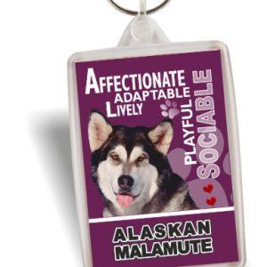 Key Ring - Alaskan Malamute No2