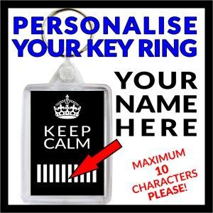 Key Ring - Keep Calm Personalised