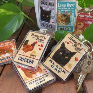 Cat & Animal Key Rings