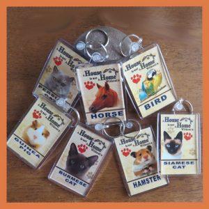 Cat & Animal Key Rings No2 More Animals